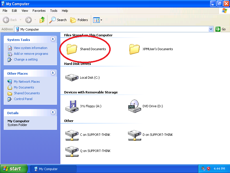 Right-click the desired folder
