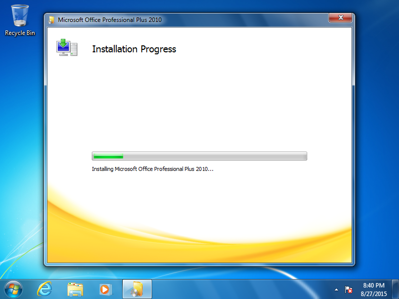 Wait for the application to install.