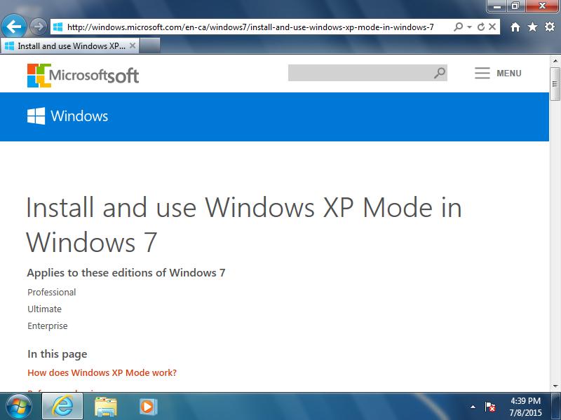 Open: http://windows.microsoft.com/en-ca/windows7/install-and-use-windows-xp-mode-in-windows-7