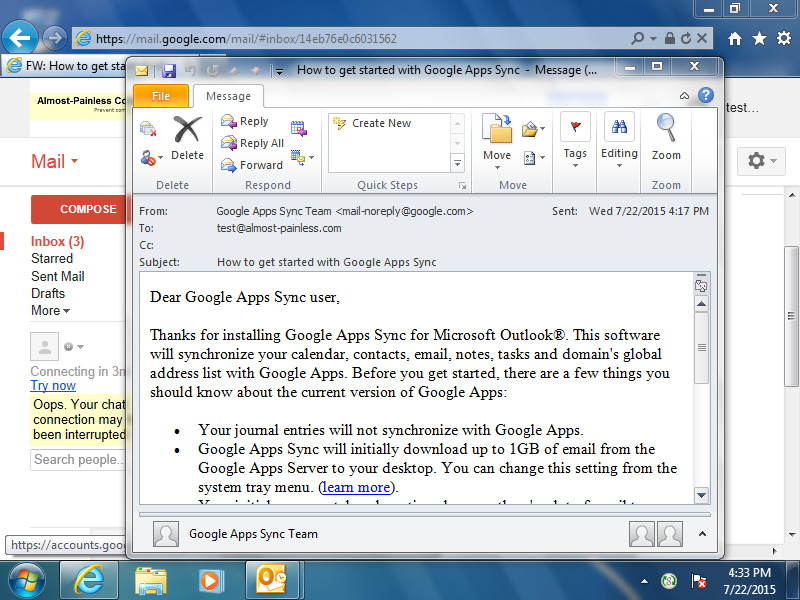 The attachment will open in your default desktop email program.