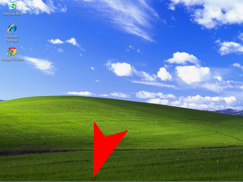 Move mouse to bottom of screen (taskbar will reappear)
