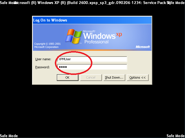 Login with User name and Password of an Administrator account.