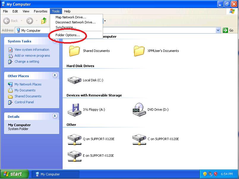 Click: Folder Options