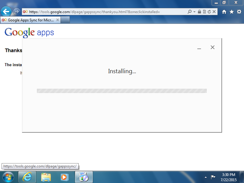 Wait for the program to install.
