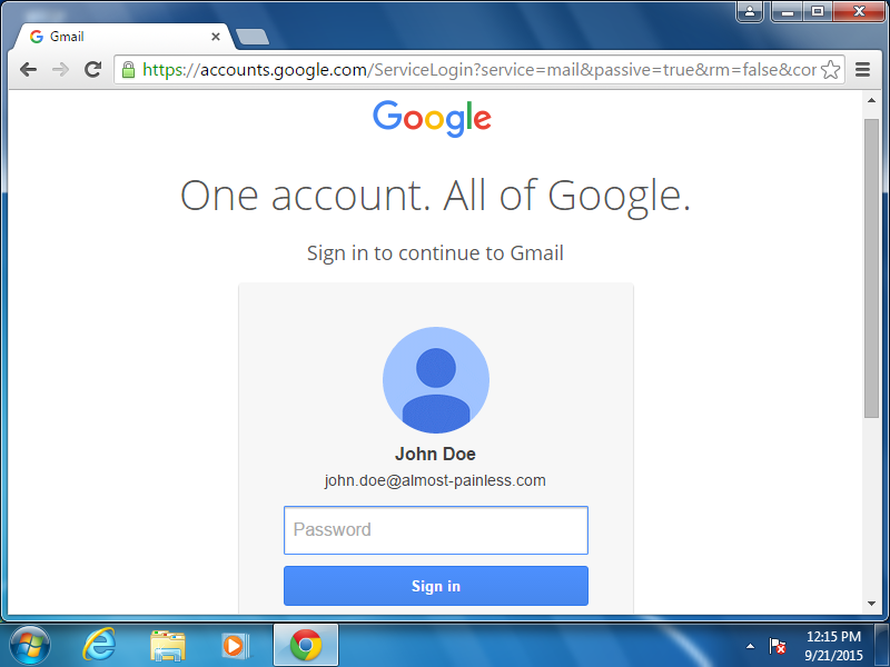 Log in to Gmail.
