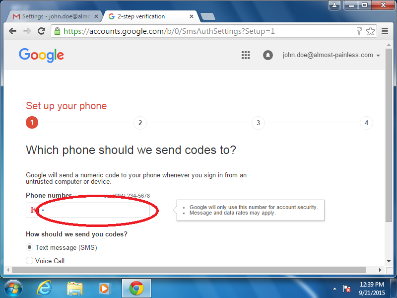 Enter your mobile phone number.