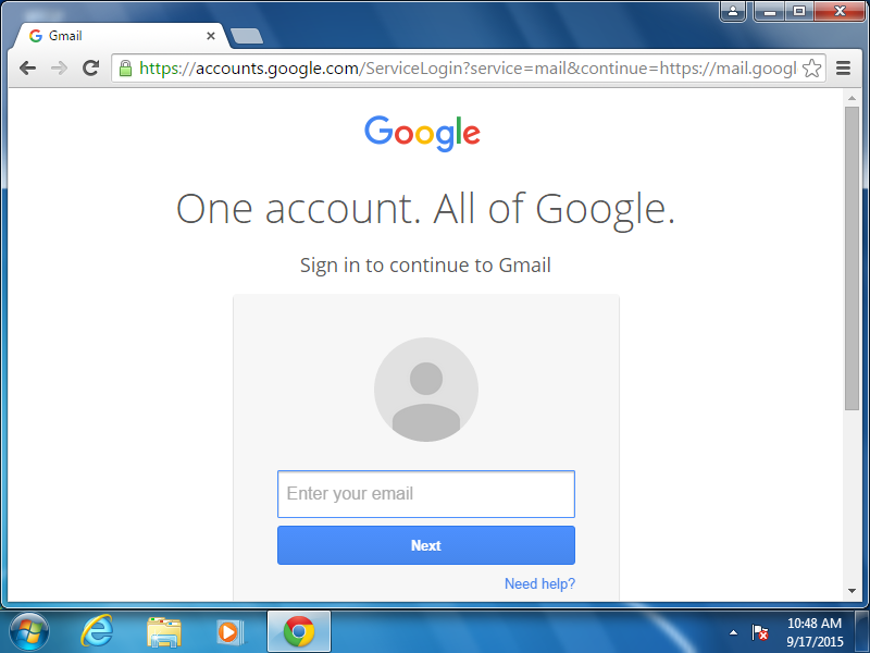 Log in to Gmail