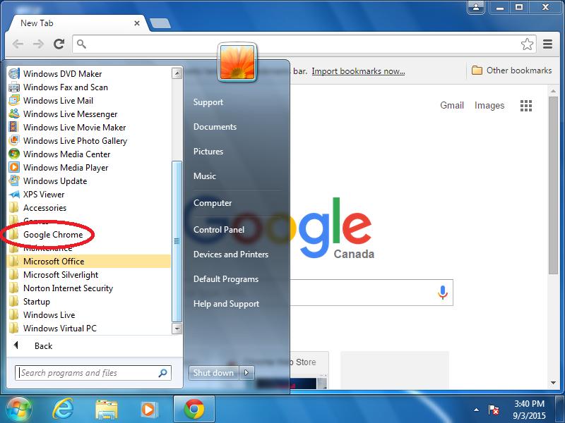 Click: Google Chrome