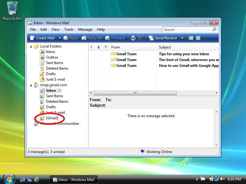 Right-click: [Gmail] (under imap.gmail.com)