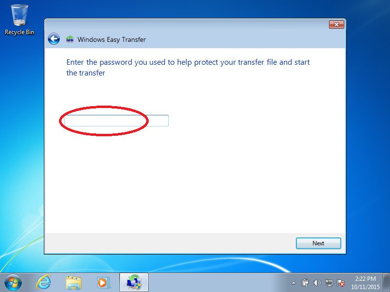 Enter the password you created earlier (if necessary)