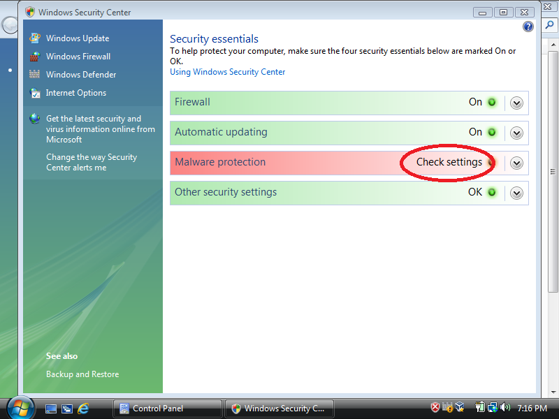 Otherwise, install antivirus software