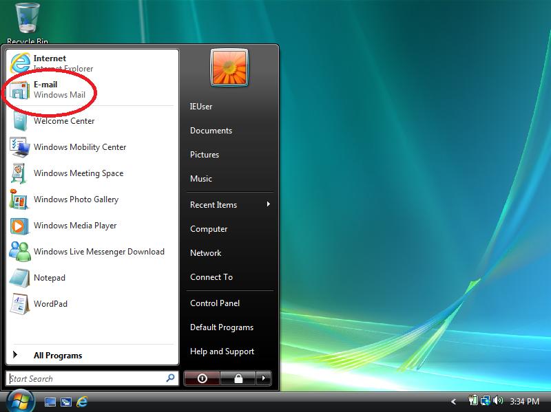 Open Windows Mail.